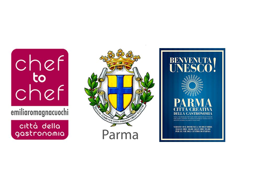 """Benvenuta UNESCO! Autorità e cittadini brindano in Piazza per salutare la nomina di Parma """"Città Creativa della Gastronomia"""""""