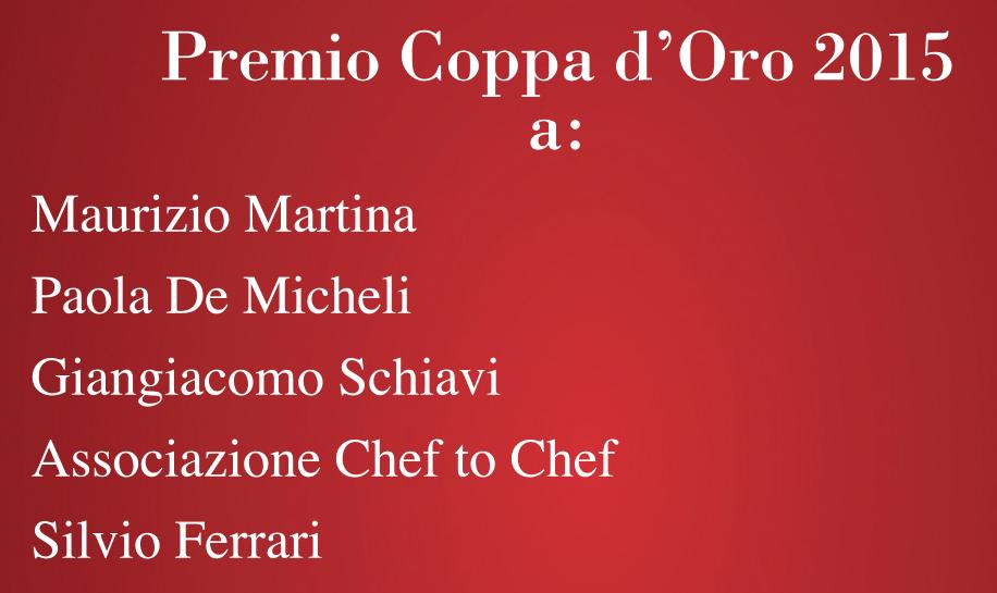 Conferimento Premio Coppa d'Oro 2015 – Piacenza